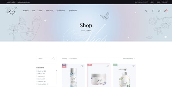 Lolly - Beauty eCommerce Figma UI Template