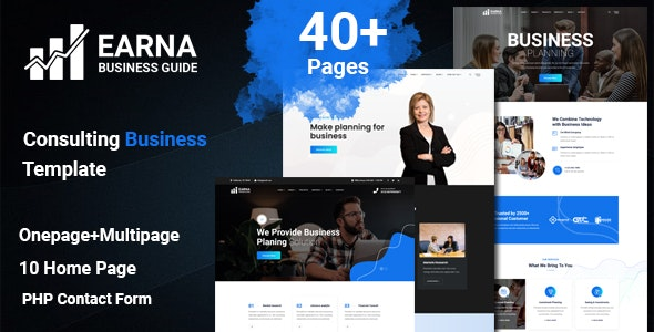 Earna - Consulting Business Template - Business Corporate