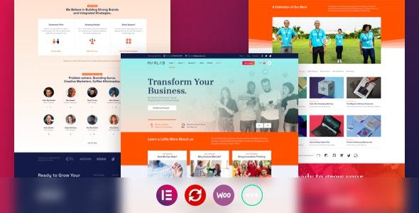 MarLab – Digital Solutions WordPress Theme - Business Corporate