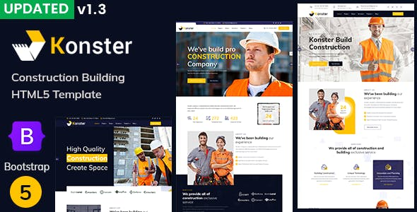 Konster - Construction Building Bootstrap5 Template