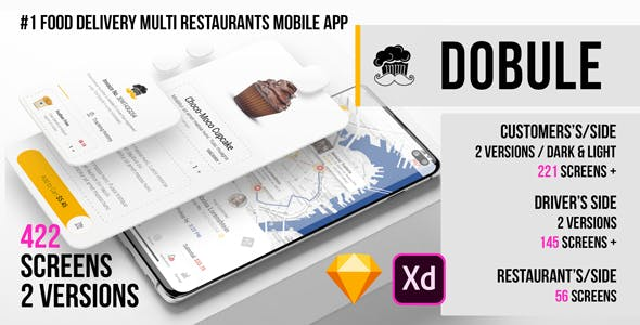 Dobule - Food Delivery UI Kit for Mobile App