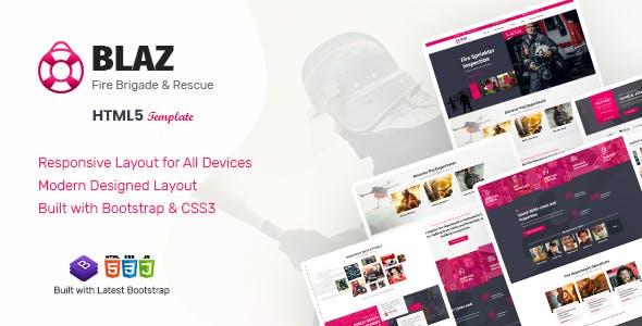Blaz - Fire Brigade HTML Template