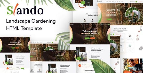 Slando - Landscape Gardening HTML Template