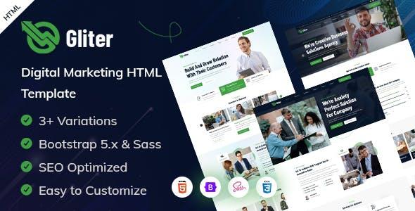 Gliter - Marketing Startup HTML Template