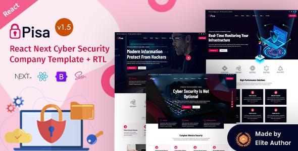 Pisa - Cyber Security Company React Template