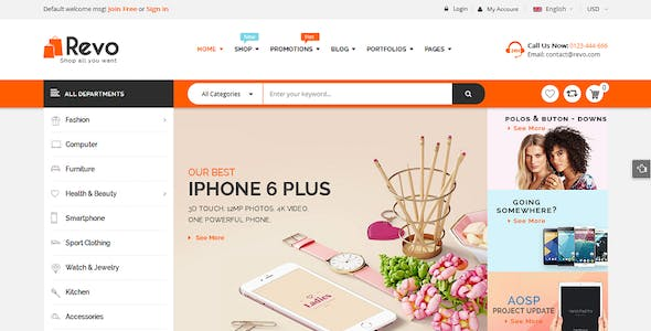 Revo - Drag & Drop Multipurpose OpenCart 3 & 2.3 Theme with 15 Layouts Ready