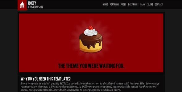 Boxy - Modern HTML 5 template - Creative Site Templates