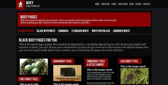 Boxy - Modern HTML 5 template