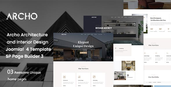 Archo - Architecture & Interior Design Joomla 4 Template