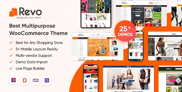 Revo - Multipurpose Elementor WooCommerce WordPress Theme (25+ Homepages & 5+ Mobile Layouts) - WooCommerce eCommerce