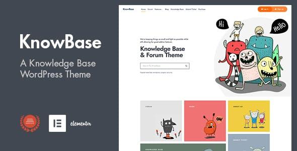 KnowBase - A Helpdesk & bbPress WordPress Theme