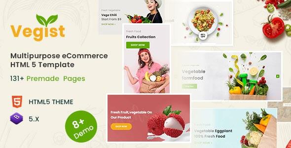 Vegist - Multipurpose eCommerce HTML Template - Shopping Retail