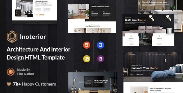 Inoterior - Architecture & Interior Designer Html5 Template
