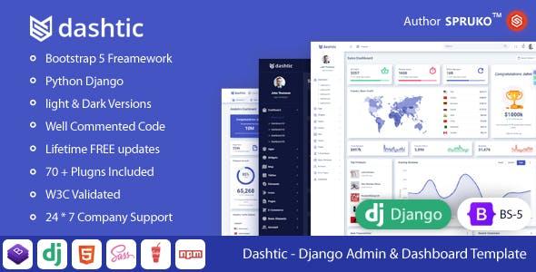 Dashtic – Django Admin & Dashboard Template