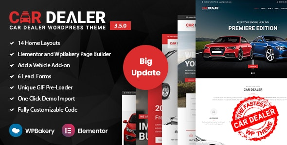 Car Dealer -  Automotive Responsive WordPress Theme - Business Corporate