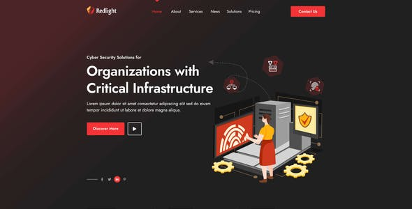 Redlight Cyber Security & IT Management PSD