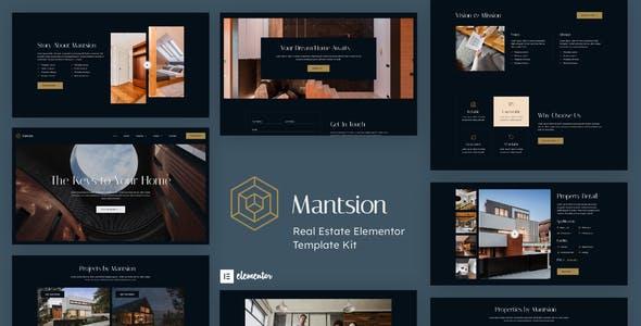 Mantsion - Real Estate Elementor Template Kit