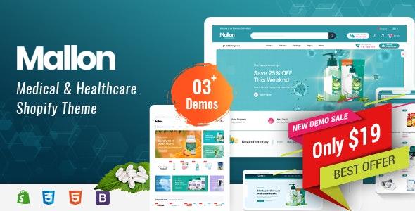 Mallon - Medical Store, Health Shop eCommerce Shopify Theme - Health & Beauty Shopify