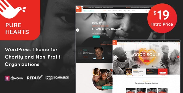 Pure Hearts - Charity & Nonprofit WordPress Theme - Charity Nonprofit