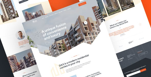 DAX - Apartment Complex Landing Page for Adobe XD