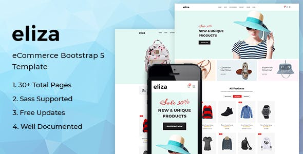 Eliza - Fashion Store HTML Template based on Bootstrap 5