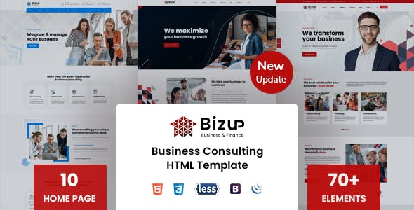 Bizup - Business Consulting HTML Template