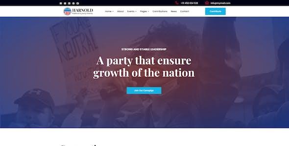 Harnold - Political WordPress Theme