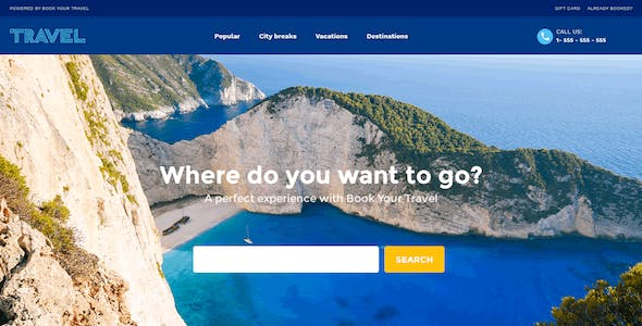 Book Your Travel - Online Booking WordPress Theme