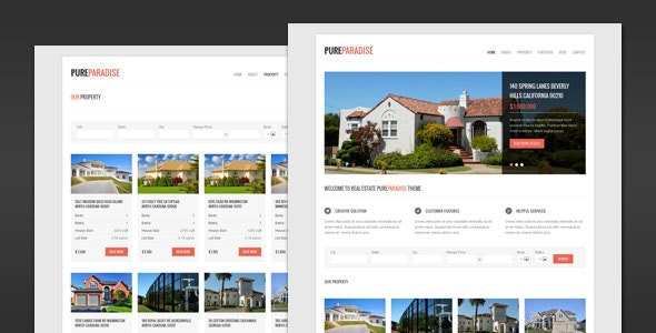 Pure Paradise - Clean Real Estate WordPress Theme - Real Estate WordPress