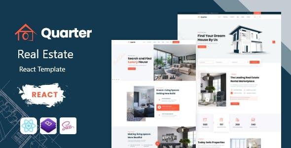 Quarter - Real Estate React Template