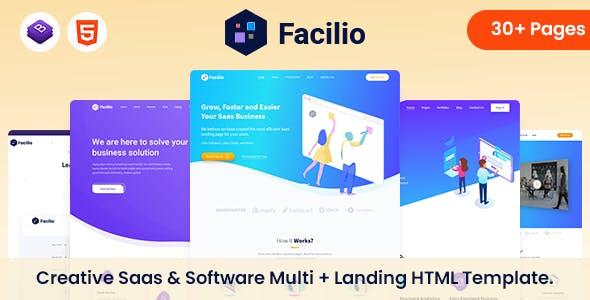 Facilio - Saas & Software HTML Template