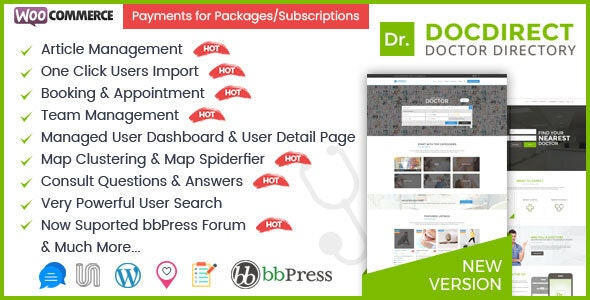 DocDirect v8.1.1 – WordPress Theme for Doctors and Healthcare Directory