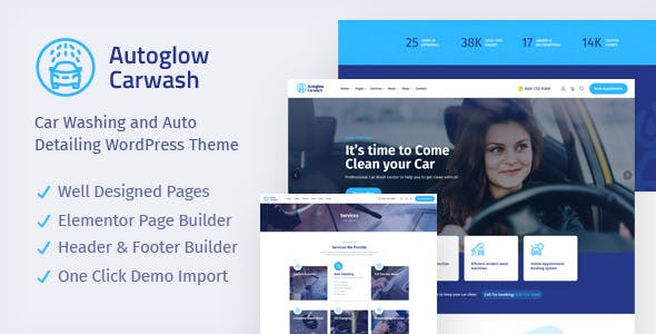 Autoglow -  Car Wash WordPress Theme