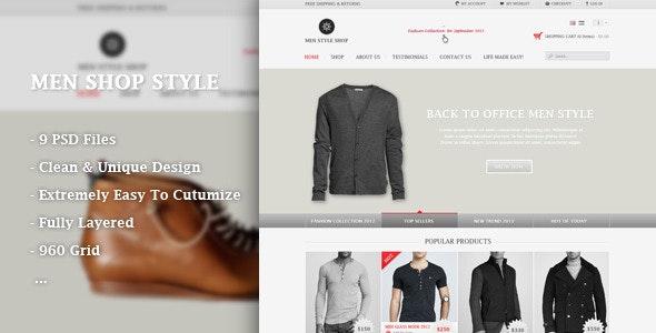 Men Shop Style - PSD - Retail Photoshop