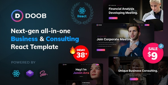 Doob - Business and Consulting React Teamplate - Business Corporate