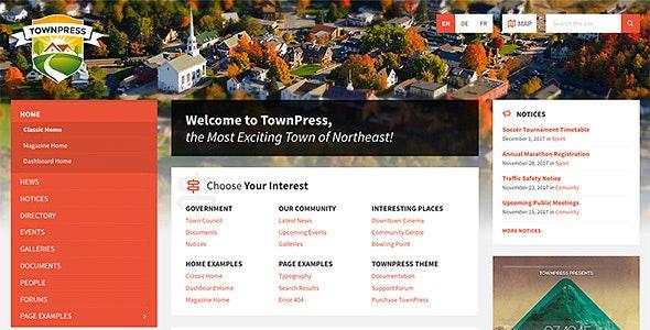 TownPress v3.7.3 – Municipality WordPress Theme