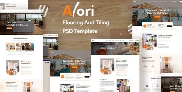 Alori  - Flooring and Tiling PSD Template