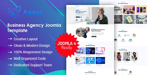 Agenz - Creative Business Agency Joomla 4 Template - Creative Joomla
