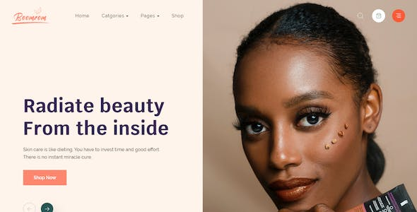 Boomrom – Cosmetic & Beauty Shop Adobe XD Template