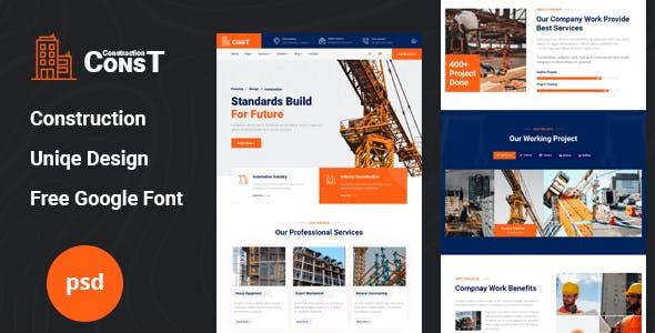Const - Construction Psd Template