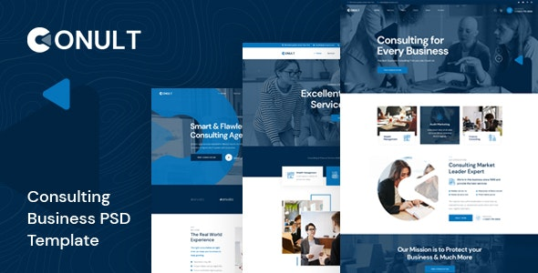 Conult - Consulting Business PSD Template - Business Corporate