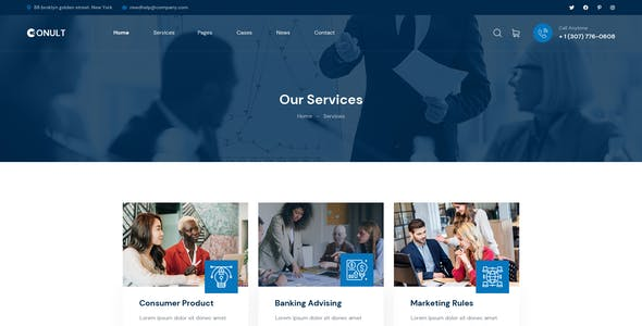 Conult - Consulting Business PSD Template