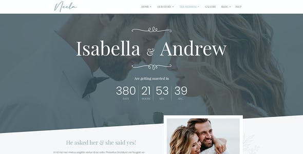 Neela - One-Page/Multi-page Wedding HTML5 Template