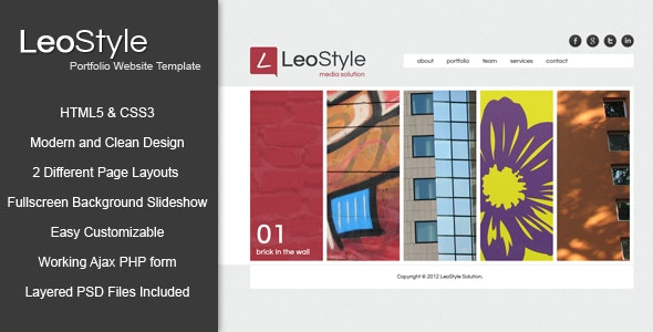 Leo - HTML5 Portfolio Website Template - Portfolio Creative