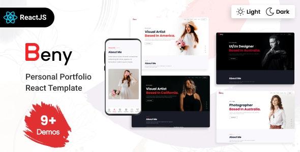 Beny - Personal Portfolio React Template - Virtual Business Card Personal