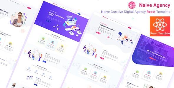 Naive Creative Digital Agency React Template