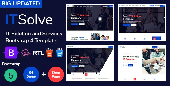 ITsolve - IT Solution and Services Bootstrap5 Template - Business Corporate