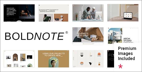 Boldnote - Portfolio and Agency Theme