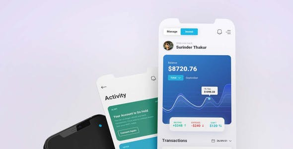 Finology - Money Management App Sketch Template