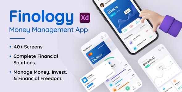 Finology - Money Management App XD Template